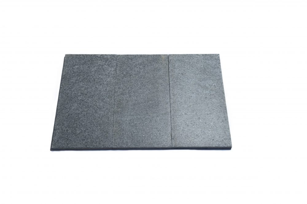 Charcoal flamed granite pavers