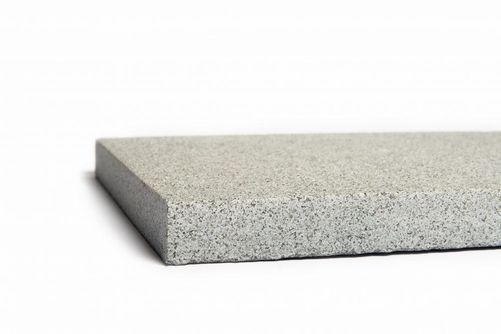 Light flamed granite paver
