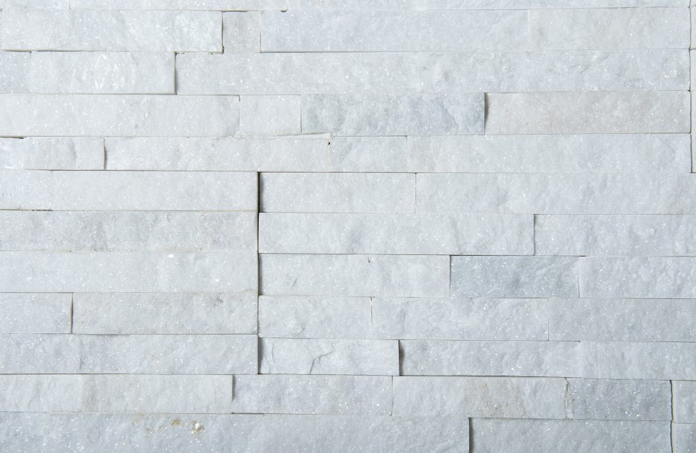 white quartz stack stone